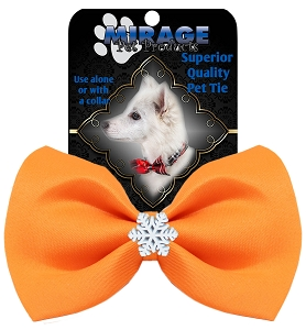 Snowflake Widget Pet Bowtie Orange